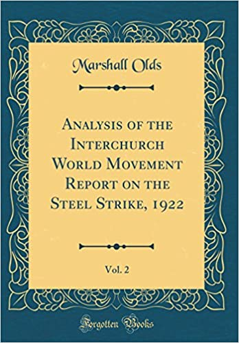 Analysis of the Interchurch World Movement Report on the Steel Strike, 1922, Vol. 2 (Classic Reprint)