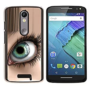 Eason Shop / Premium SLIM PC / Aliminium Casa Carcasa Funda Case Bandera Cover - Ojo abstracto - For Motorola Moto X ( 3rd Generation )