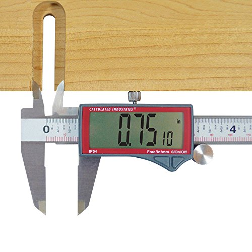Calculated Industries 7408 AccuMASTER 6-Inch Digital Caliper; Fractional (1/64ths) + Inch + Metric with Largest Display Digits for Woodworkers, Stainless Steel, IP54 by Calculated Industries (Image #3)