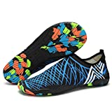 VILOCY Quick Dry Aqua Water Shoes Running Gym Barefoot Swim Shoes For Men's Women's Kids Blue 39 Review