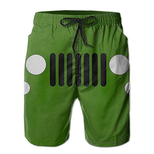 Benntoyo Beach Shorts Cool Jeep Logo Men Comfortably Breathable Boardshorts Swim Trunks For Summer Swim Or Home Leisure Large