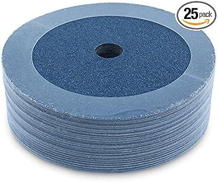 80 Grit 5-Inch x Black Hawk Zirconia Resin Fiber Grinding  Sanding Discs
