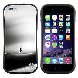 """Pulsar iFace Series Tpu silicona Carcasa Funda Case para Apple (4.7 inches!!!) iPhone 6 Plus / 6S Plus ( 5.5 ) , Triste Dune Desert Hombre Viento Arte Negro"""""""
