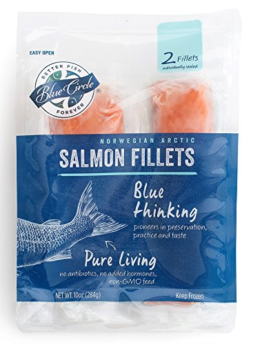 Blue Circle Frozen Twin Pack 5oz x 2 Portions - 2 bags (Norwegian Atlantic (Atlantic Salmon)