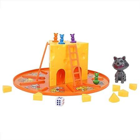 Fishlor Juego de interacción, Juego de Mesa de Gato y ratón Coma Queso Juego de Mesa de interacción Entretenimiento Interacción Padre-Hijo Juguetes educativos: Amazon.es: Hogar