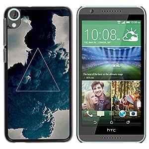 Be Good Phone Accessory // Dura Cáscara cubierta Protectora Caso Carcasa Funda de Protección para HTC Desire 820 // Mystical Symbol Art Triangle Painting