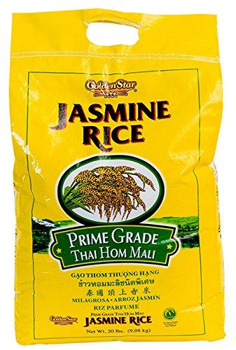 Golden Star Jasmine Rice 20 lb Prime Grade Thai Hom Mali by GoldenStar