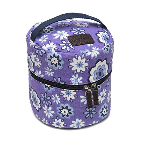 10-bottle Essential Oil Diffuser Carrying Case Tote for doTERRA, Young Living Bottles for Aromatherapy Travel or Storage (Lavender) by Abrazo Designs