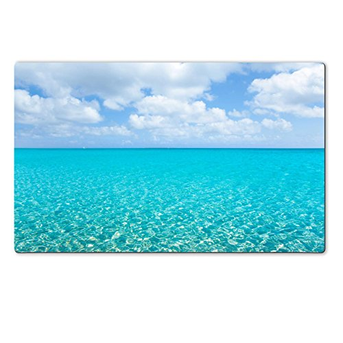 Landmark Tiffany Kitchen Island (Liili Large Table Mat 28.4 x 17.7 x 0.2 inches beach tropical with white sand and turquoise water under blue sky IMAGE ID)