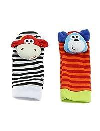 GaoCold Infant Cute Animal Hand Wrist Bells Baby Foot Sock Rattles Kids Soft Toys