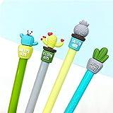 Copter Shop 4 pcs/lot Novelty Strong Cactus Plant Gel Pen Ink Marker Pen School Office Supply