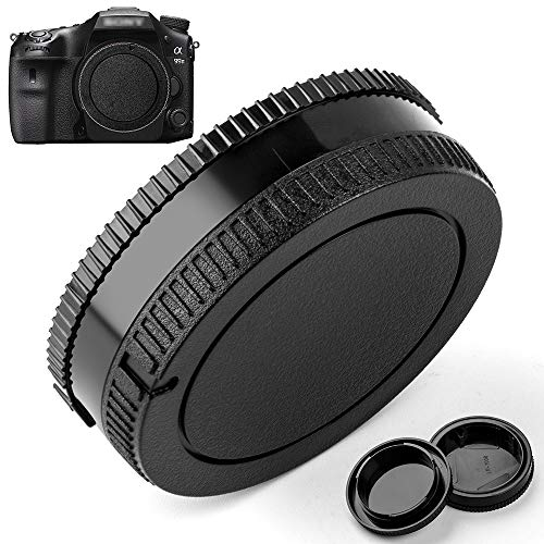 (Camera Body Cap and Lens Rear Cap Cover Replacement for Sony Alpha A-Mount/Minolta AF Mount Lens,2 Packs)