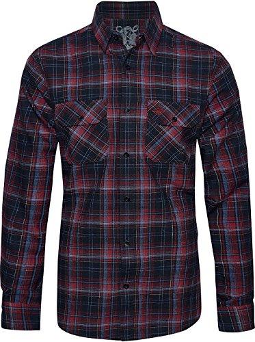 Mountain Designs Diseños de montaña Hombre Mike seawool Manga Larga Camisa de Cuadros
