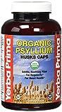 Yerba Prima Organic Psyllium Husk Supplement Capsule, 180 Count