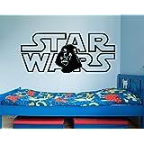 Star Wars Wall Decals Darth Vader Vinyl Sticker Decal Logo Wall Decal Children Kids Nursery Bedroom Office Decor Window Dorm x211