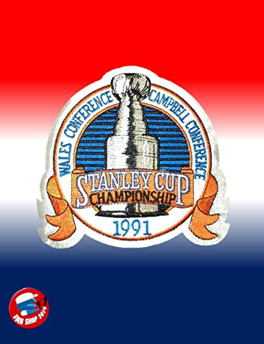 1991 NHL Stanley Cup Final Championship Jersey Patch Pittsburgh Penguins vs. Minnesota North - 1991 Stanley Cup