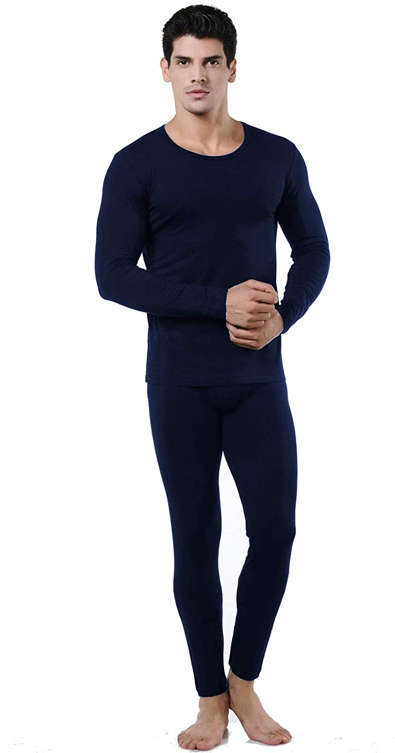9M Mens Ultra Soft Thermal Underwear Base Layer Long Johns Set with Fleece Lined