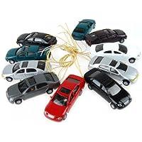 Baoblaze 10 Modelos De Automóviles Pintados con Luz
