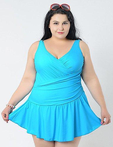 skt-swimwear Sommer Kleid einem Stück Badeanzüge Big Frauen Extra Groß Bademode Big Girl Bademode Cover Ups Plus Größe XXL 6x l