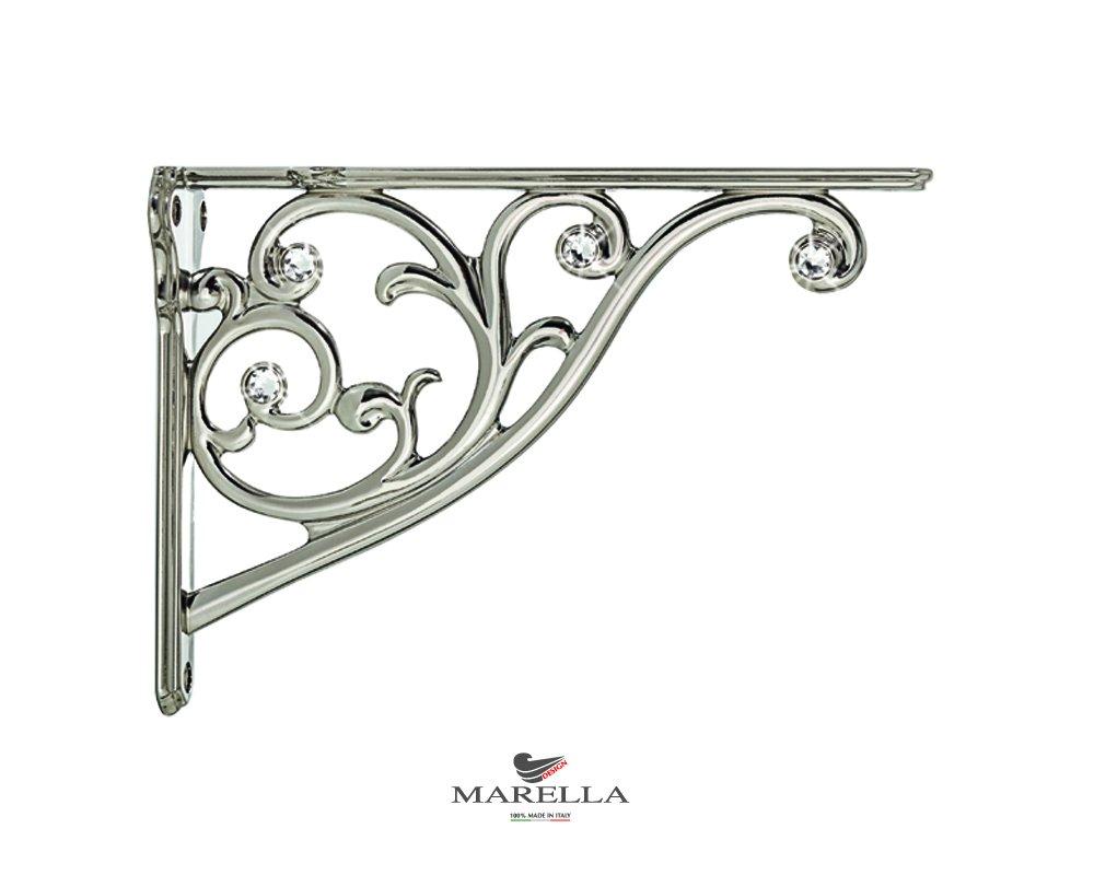 MARELLA Design 42432z200F1.32Shelf Brackets, Polished Nickel, wheelbase 200mm