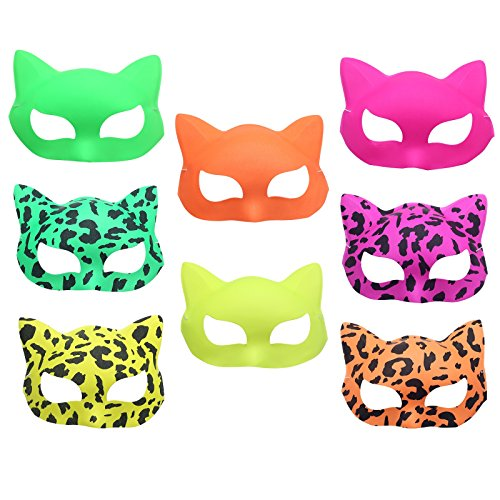 Pparty 12pcs Kids Party Masquerade Masks Costume-Holiday Cosplay Unicolor (Red Halloween Mask)