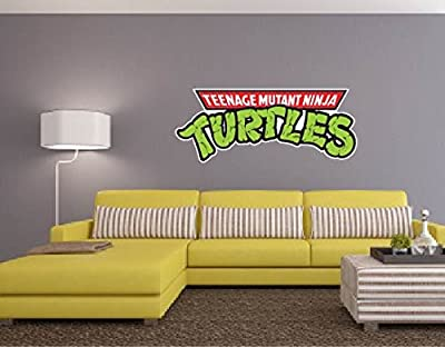 "Teenage Mutant Ninja Turtles Cartoon Wall Graphic Vinyl Sticker Decal 11""x28"""