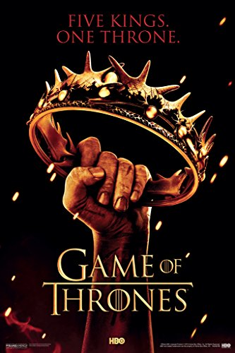 Pyramid America Game of Thrones Crown Five Kings One Throne HBO Season 2 TV Television Series Poster 12x18 inch (Game Of Thrones Season 5 Poster)