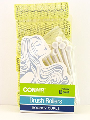 Conair Small Brush Hair Rollers With Pins - 12 Ct.