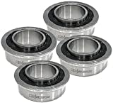 (4 Pack) Front Wheel Bearings John Deere 115C, 190C, 115, 125,...