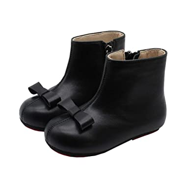 M/&A Little Girls Anti-skid Faux Fur Lined Winter Snow Boots