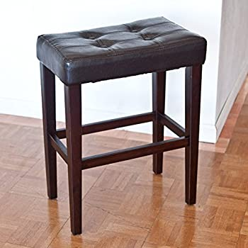 Amazon Com Palazzo 26 Inch Saddle Counter Stool Brown