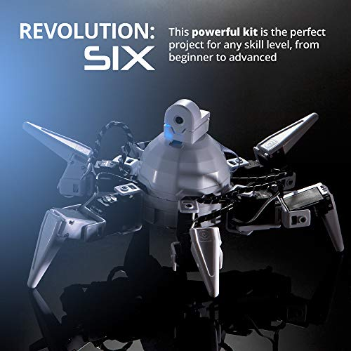 EZ-Robot Six Hexapod Kit DIY STEAM Educational Robotics Set for Kids & Adults Learning to Design & Build Programmable Electronic Robots by EZ-Robot (Image #6)