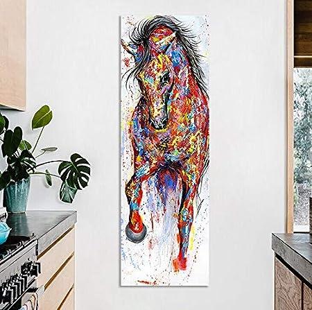 Oulensy Arte de la Pared Pintura Lienzo de la lámina Cuadro Animal Animales de la Pata del Caballo PosterStanding para Sala Decoración No Frame
