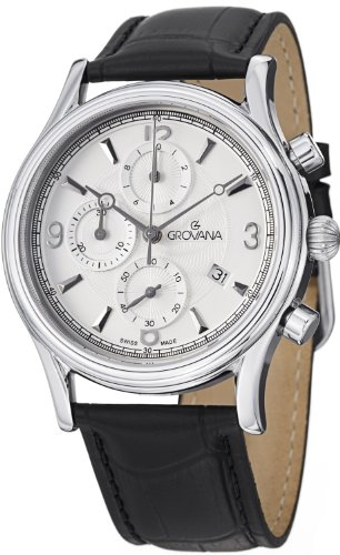 Grovana Traditional Men's Silver Dial Quartz Chronograph Watch 1728.9532