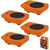 """4pc Furniture Mover Rollers - Furniture & Appliances Roll with Ease 4"""" x 3"""""""