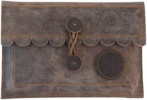 Gusti Leder 'Jeremiah' Tablet Tasche 7,9'' Hülle Dokumententasche Vintage Braun Leder
