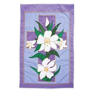 Evergreen Enterprises 167707 Garden Size Applique Flag - Easter Morning