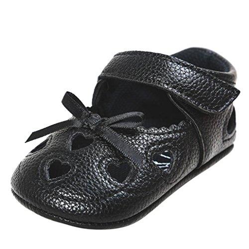 BZLine® Baby Girl Hollow out Sandalen Schuh Schuhe Sneaker Anti-Slip Soft Sandalen Schwarz
