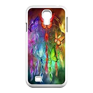 Diy Colorful Dream Catcher Tribal Custom Cover Phone Case for samsung galaxy s4 White Shell Phone [Pattern-1]