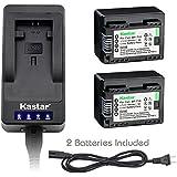 Kastar LED Super Fast Charger & Battery x2 for Canon BP-718 BP718 BP-727 BP727 and Canon VIXIA HF M38 HF M36 HF M306 HF HF M506 HF M66 HF M68 HF M606 HF M76 HF M78 HF M706 HF M86 HF M88 HF M806 Camera