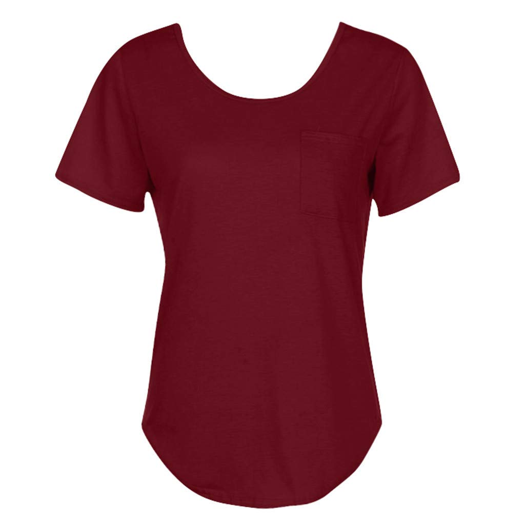LOMONER Women's Loose Casual V-Neck Asymmetrical Short Sleeveless Tops Shirt