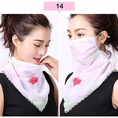 FZAY Bandana Face Mask, Breathable UV Protection Print Silk Neck Gaiter Balaclava Mask Headwear Neckwear Headband for…