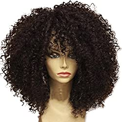 MeiRun 13x6 Deep Part Afro Kinky Curly Lace Front Wigs Human Hair Wigs Short For Black Women Brazilian Human Hair Wigs Pre-Plucked Lace Front Wigs 14inch
