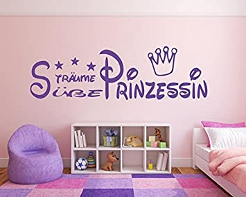 Kinderzimmer kleinkind mädchen  Violettes / Lila Wandtattoo Kinderzimmer, Kind, Baby ~ Text: Süße ...