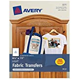 Avery T-Shirt Transfers for Inkjet Printers, 8.5 x 11 Inches, Pack of 12
