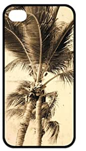Back Case Durable Summer Beach Palm Tree Blue Sea Sunshine Case For iPhone 4,4s