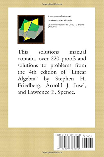 the unauthorized solutions manual to linear algebra 4th ed by rh amazon com Linear Combination Linear Combination
