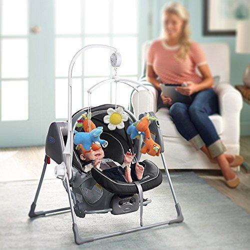 AGPtek 28 inch Baby Crib Mobile Bed Bell Holder Music Box Holder Arm Bracket Baby Bed Stent Set Nut Screw by AGPTEK (Image #4)