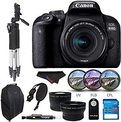 Canon EOS 800D / T7i con EF-S 18-55 es STM, Tarjeta de Memoria de ...