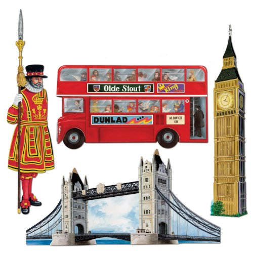 Beistle 55516 British Cutouts 16 Inch product image